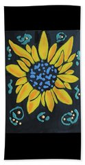 Beach Towel featuring the painting Son Flower by Deborah Boyd