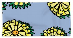 Sonchus In Color Beach Towel