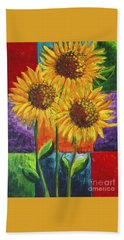 Sonflowers I Beach Towel