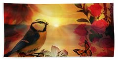 Song At Sunset Beach Towel