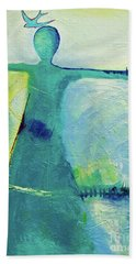 Song Bird Beach Towel by Gallery Messina