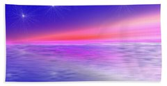 Song Of Night Sea Beach Towel by Dr Loifer Vladimir