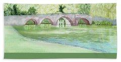Sonning Bridge  Beach Sheet by Joanne Perkins