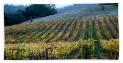 Sonoma County Vineyards Near Healdsburg Beach Sheet