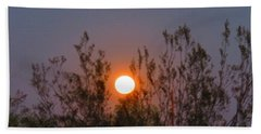 Sonoran Desert Harvest Moon Beach Sheet