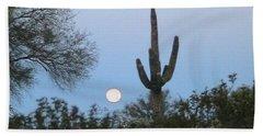 Sonoran Desert Moonset Beach Sheet