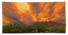Beach Towel featuring the photograph Sonoran Sonata H16 by Mark Myhaver