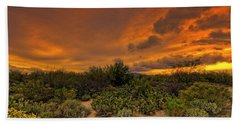 Beach Towel featuring the photograph Sonoran Sunset H4 by Mark Myhaver