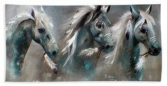 Beach Towel featuring the painting Sons Of Thunder Spirit by Barbie Batson