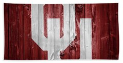Sooners Barn Door Beach Sheet
