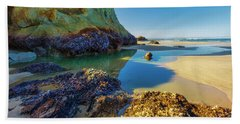 Soothing Seaside Landscape Beach Towel