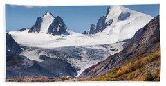 Sophia Glacier. Altai Beach Towel by Victor Kovchin