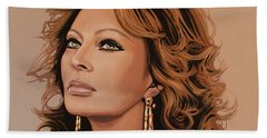Sophia Loren 3 Beach Towel by Paul Meijering