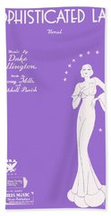 Sophisticated Lady Sheet Music Art Beach Towel