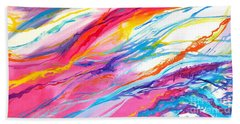Soul Escaping Beach Sheet by Expressionistart studio Priscilla Batzell