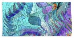 Sound Waves 2 Beach Sheet by Iris Gelbart