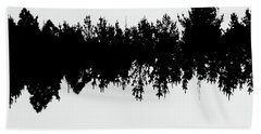 Sound Waves Made Of Trees Reflected Beach Towel