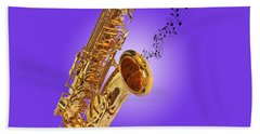 Sounds Of The Sax In Purple Beach Sheet