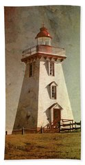 Souris Lighthouse 4 Beach Towel