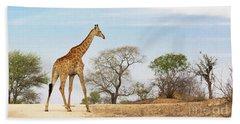 South African Giraffe Beach Towel
