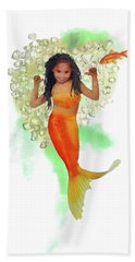 South African Mermaid Beach Towel by Francesa Miller