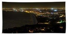 South Bay At Night Beach Sheet