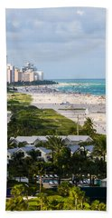 South Beach Late Afternoon Beach Towel
