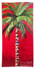 South Beach Palm II Beach Sheet by Kristen Abrahamson