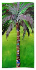 South Beach Palm IIi Beach Towel