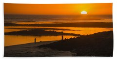 Beach Towel featuring the photograph South Beach Sunset by Ray Warren