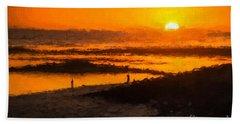 South Beach Sunset    Rvr Beach Towel