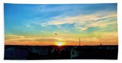 South Bethany Sunset Beach Towel