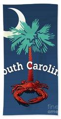 South Carolina Palmetto Crab Beach Towel