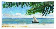 South Coast Kenya Dhow Beach Towel