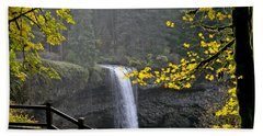 South Falls Of Silver Creek Beach Towel