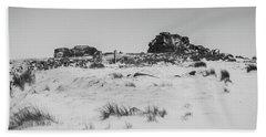 South Hessary Tor In The Snow Beach Sheet