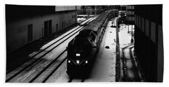Beach Towel featuring the photograph South Loop Railroad by Kyle Hanson