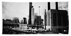 Beach Towel featuring the photograph South Loop Railroad Yard by Kyle Hanson