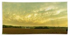 Thunder Storm Over A Pennsylvania Farm Beach Sheet