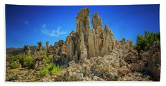 South Tufa 1 Beach Towel by Craig J Satterlee