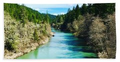 South Umpqua River Oregon  Beach Towel
