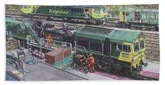 Southampton Freightliner Train Maintenance Beach Towel