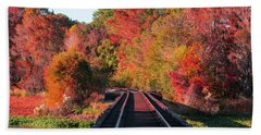 Southern Fall Beach Towel by RC Pics