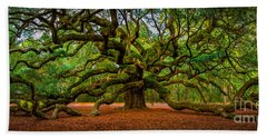 Angel Oak In Charleston Beach Towel