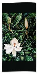 Southern Magnolia Bud And Bloom Beach Sheet