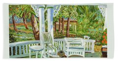 Southern Porches Beach Sheet by Margaret Harmon