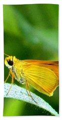 Beach Towel featuring the photograph Southern Skipperling Butterfly 001  by Chris Mercer