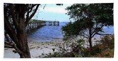 Southport Pier And Shoreline Beach Towel