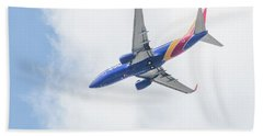 Southwest Airlines With A Heart Beach Towel