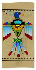 Southwest Bird Symbol Beach Towel